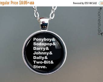 ON SALE - The Outsiders : Necklace, Pendant or Keychain Key Ring. Gift Present Glass Dome Metal Jewelry round art photo by HomeStudio