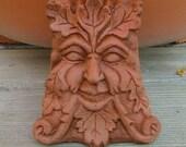 Concrete Greenman Pot Feet (Terracotta) Garden Decor Set of 3