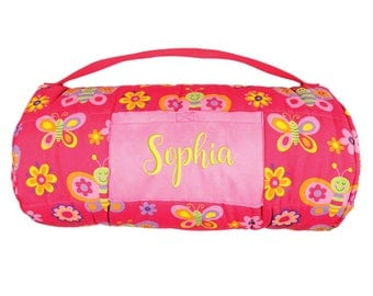 Butterfly Nap Mat Personalized Girl Daycare Preschool Monogrammed Toddler