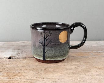 Gold Moon & Tree Mug