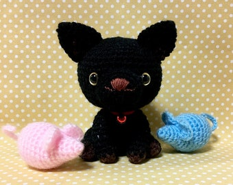 Amigurumi Cat / Crocheted Cat --- Black Cat