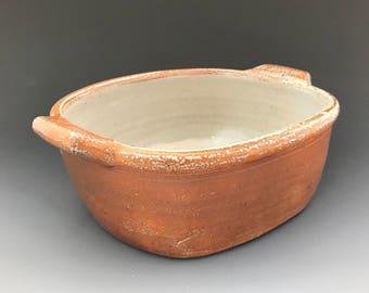 Rectangular Baking Dish - Serving Dish - 1 1 /2 Quart - Soda Glazed Wheel Thrown Pottery - Ron Philbeck