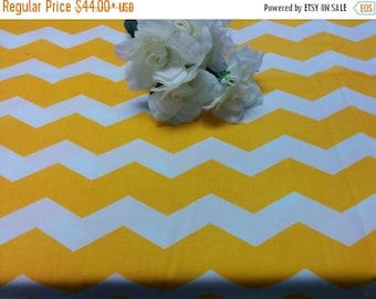 """ON SALE YELLOW Chevron Tablecloths 3 tablecloths 85"""" round, 8' and 10' rectangles"""