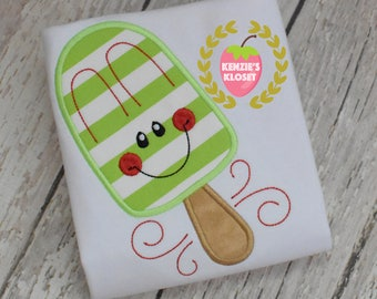 Popsicle t-shirt - Popsicle shirts - applique monogram popsicle shirt - Summer t-shirts - toddler - children - baby 18 mo 2t 3t 4t