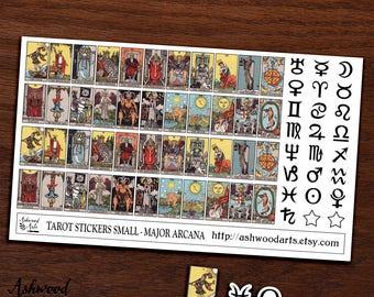 Small Tarot Card Planner Stickers