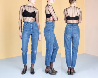 BOYFRIEND JEANS PERFECT fade high waist denim  Liz Wear vintage skinny High Quality / size 5 / waist 27 28 / women