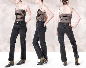 LEVIS 505 BOYFRIEND JEANS vintage black 90s denim pants Women / Size 8 / 30 waist/ better stay together