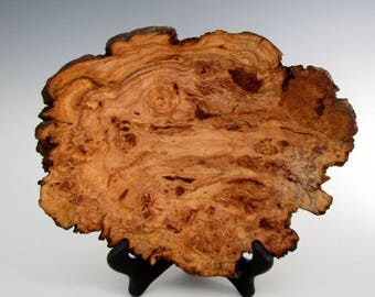 Wood Bowl - Natural Edge Cherry Burl - Wood Turned  Bowl or Platter - Housewarming Gift- Christmas Gift- Wood Bowls - Wooden Bowl