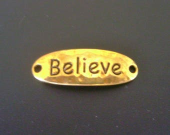 Believe Connector Charm - Gold - Low Shipping