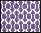 Premier Prints Sydney - Thistle Purple on White Slub - Fabric by the Yard Purple Fabric