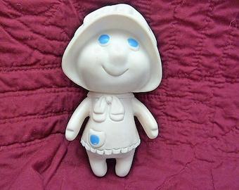 Vintage 1972 Soft Rubber Pillsbury Poppy Fresh Doughgirl Collectible Doll