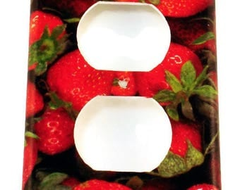 Kitchen Strawberry Light Switch Cover Switchplate  Outlet Plate  in  Very Berry  (249O)