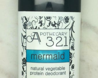Mermaid Ocean Natural Deodorant, Aluminum Free, Paraben Free Vegan Deodorant Soft Ocean Scent