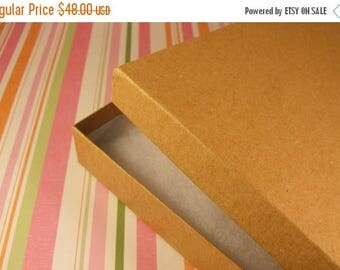Summer Sale 50 Pack Cotton Filled Kraft Brown Color Jewelry Gift and Retail Boxes 6.15 X 5.15 X 1 Inch Size