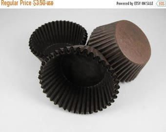 Summer Sale 50 Pc Pretty Chocolate brown Cupcake Liners 2X1.25 Inch Size Perfect for Parties