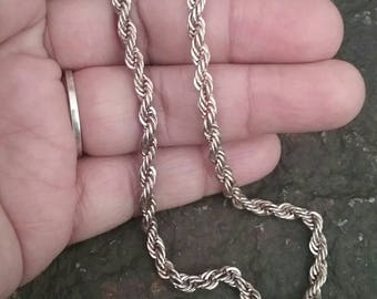 Silver Chain Necklace, Silver Necklace, Chain Necklace, Vintage Jewelry, Vintage Necklace, Vintage Chain Necklace