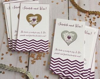 Scratch Off Cards Bridal Shower Game