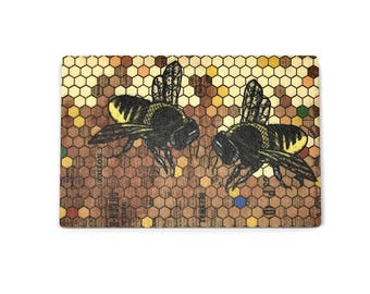 JUMBO Honey Bee Magnet, Bee Fridge Magnet, Bee Kitchen Magnet, Beekeeper  Gift,