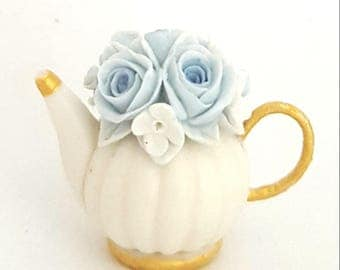 1/12TH scale floral teapot