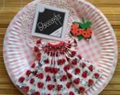 Ladybug bishop smocked camisole dress for Neo Blythe, Holala, doll