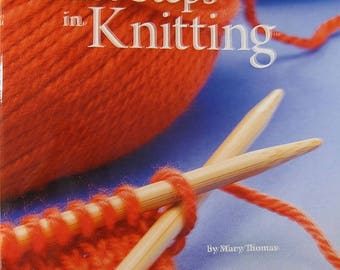 CLEARANCE First Steps in Knitting Book by Mary Thomas