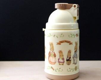 Sweet Family. 1980s kawaii bunny thermos.