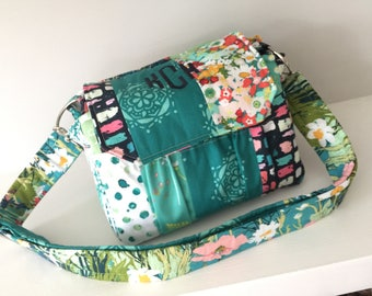 Medium Padded Modern Patchwork Camera Bag by Watermelon Wishes with Free Monogramming