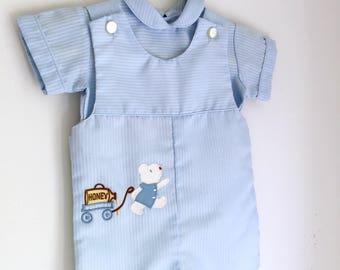 Vintage blue jonjon baby boy 6 months Jayne Copeland gift for baby boy