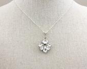 Rhinestone Necklace, Swarovski Bridal Necklace, Bridal Jewelry, Wedding Necklace, Rhinestone wedding jewelry, necklace for bride