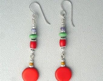 OnSale African Trade Bead Earrings