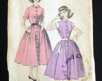 1950s Advance pattern 6413 Teen age dress with short sleeves size 14 bust 32