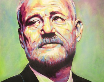Bill Murray Original Oil painting on canvas. Signed by artist Mel Fiorentino.