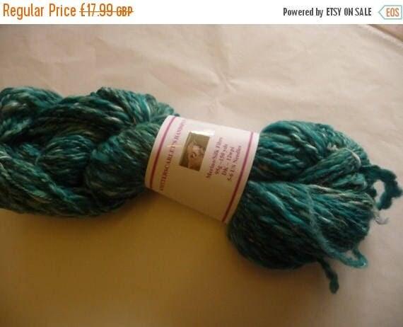 Christmas In July Turquoise Merino/Silk Handspun Yarn 95g/150yds
