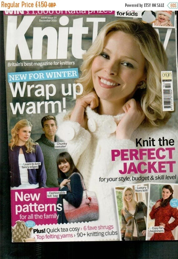 Christmas In July Knit Today Knitting Magazine Issue 54 December 2010