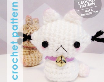 crochet pattern amigurumi, kitty cat amigurumi stuffed animal, plushie plush, crochet cat plush pattern, kitty amigurumi, kawaii cat neko