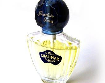 Shalimar Guerlain Paris / .5 oz Eau de Toilette Travel Spray / Perfume / Citrus Jasmin Rose Vanilla / Floral Scent / Women's Perfume