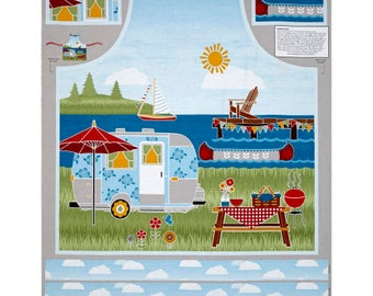 New ~ Let's Go Glamping Apron Panel by Anne Rowan for Wilmington Prints, Quilt Cotton
