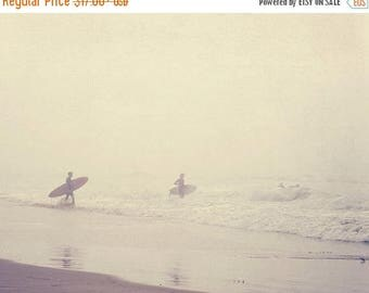 SALE Venice beach photography, surfer photograph, evolution, California, ocean foggy morning grey seaside water, surfboard, dorm decor, for
