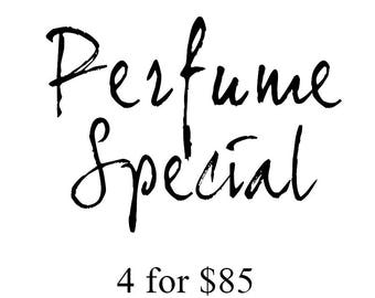 4 Perfumes for 85.00 SALE