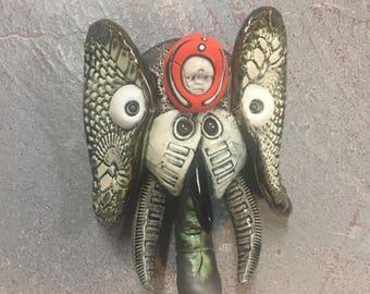 Ceramic elephant , wall hanging, mask