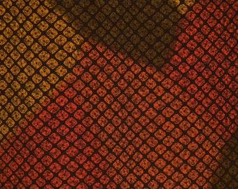 Vintage haori S735, multi color,  silk