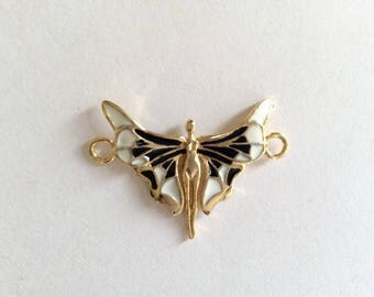 1 pc- Matte 22K Gold Plated Base Butterfly Charm - Butterfly 45x30mm-(007-060)