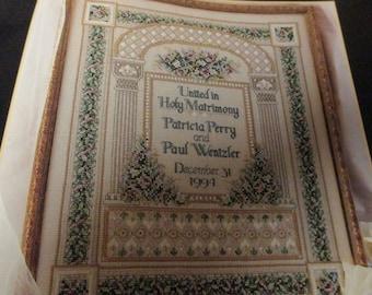 Counted Cross Stitch Kit Wedding Sampler 113827 Teresa Wentzler Opened and Missing Beads
