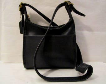 COACH Leather Bag Coach Leather Purse Black leather shoulder bag