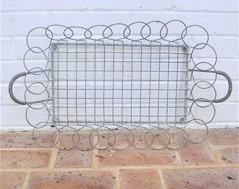 Vintage Basket Vintage Galvanized Basket Tray With Metal Handles
