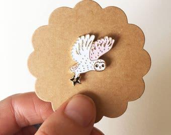 Australian Barn Owl Enamel Pin - designed by Jess Racklyeft *Limited Edition*