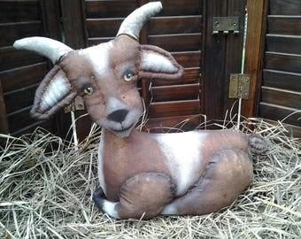 PATTERN Primitive Folk Art Goat Pattern ~