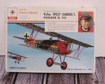 Renwal Vzfw  Willy Gabriel's Fokker D. VII