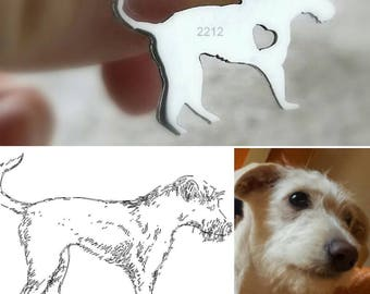 sterling silver dog pendant w pearl or crystal, pet, perro, animal, pitbull,chihuahua,personalize charm,dog jewelry,man,men,woman