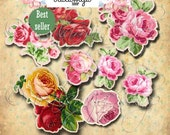 CUT OUT ROSeS No. 2 Printable download / Printable / Scrapbook / Printable Flowers/ Roses / Printable Roses / Cut out Roses / Flowers